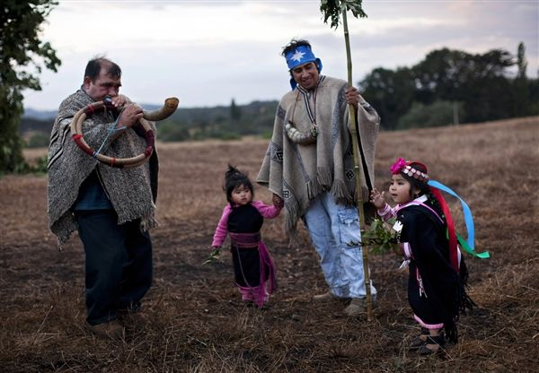 In recent years the Mapuches have been rediscovering their traditions and reasserting their rights