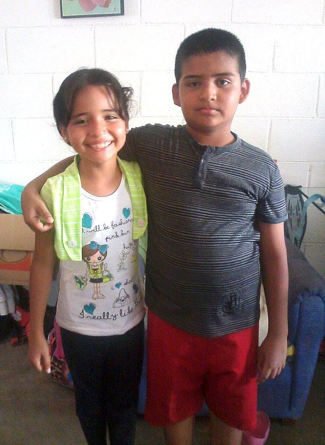 Ramon with his sister -- and with a new vision for the future